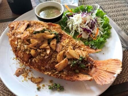 Garlic fried fish